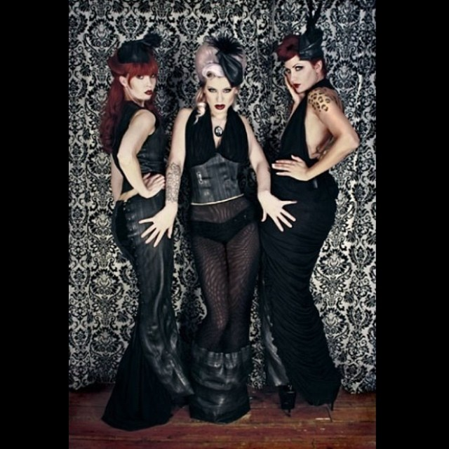 Some old #reneemasoomian outfits from our 2009 collection. Made from #bicycleinnertubes and mesh. #tbt #darkstyle #darkfashion #nycfashiondesigner #nycfashion #fashionphotography #fashion #sustainablefashion #rubber #innertube