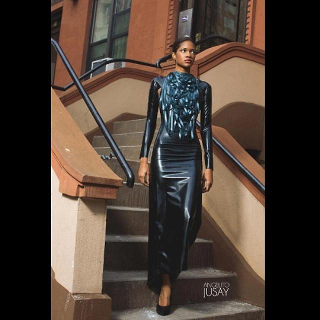 #babyloveslatex Cutout Gown and Draped Neckpiece available on #reneemasoomian.com. #latex #latexfashion #latexmodel #fashionlatex #fetishfashion #nycfashion #nycfashiondesigner #fashionphotography #fashiondesigner