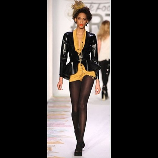A photo from our #2012 #nyfw #fashionshow featuring both our #babyloveslatex #latex blazer and #reneemasoomian cowl romper suit. #fashionlatex #latexfashion #tbt #darkstyle #darkfashion #fashiondesigner #nycfashion #nycdesigner #fashionphotography