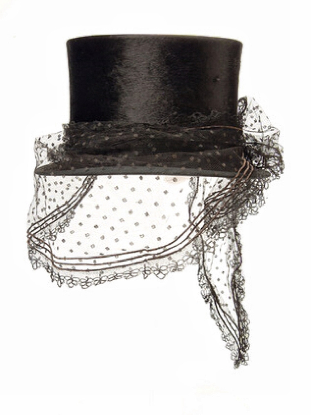 thevintagethimble :       Riding Top Hat        Riding top hat. 1863 AD - 1865 AD. Beaver felt riding hat with a lace veil, dated c. 1864. This hat was retailed by W.C. Taylor. |  Museum Of London