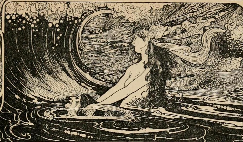 venusmilk: Fairy tales from Hans Christian Andersen (1899) Illustrations by Charles Robinson Far out at sea the water is as blue as the bluest corn-flower, and as clear as the clearest crystal;