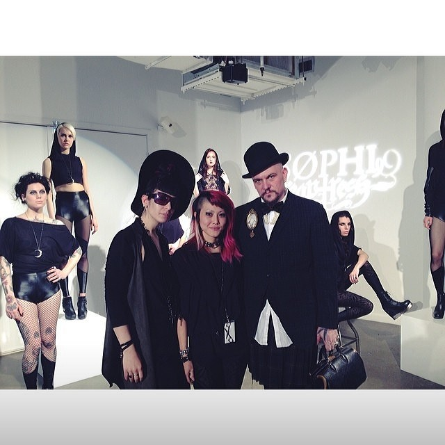 @sophireaptress, @purevile, and myself at sophireaptress' fashion presentation from #lingeriefashionweek this past weekend. They are both great people and designers, you should follow them. #darkfashion #darkstyle