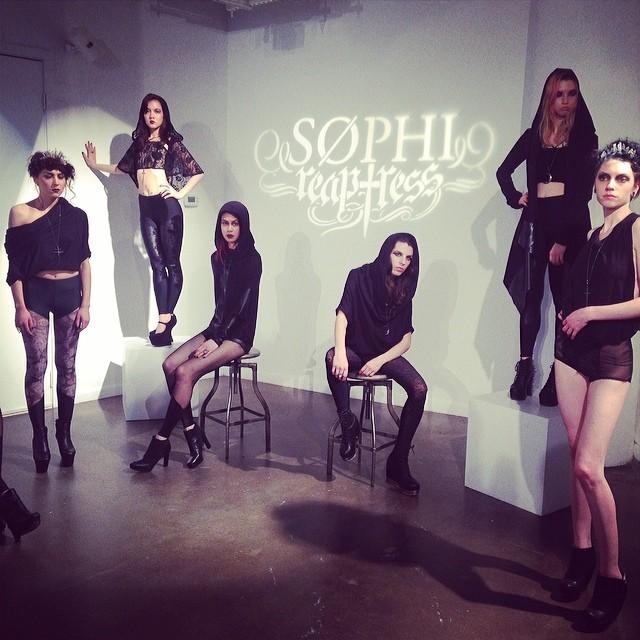 @sophireaptress' #fashionpresentation at #lingeriefw14. #lingeriefashionweek