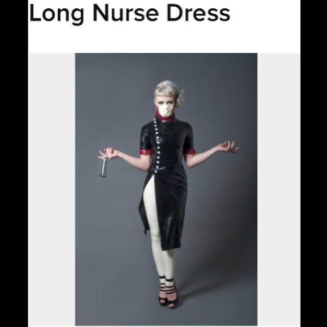 Available on #reneemasoomian.com. #latex #latexfashion #latexnurse #latexdress #fetishfashion #latexmodel #fashionlatex http://www.reneemasoomian.com/new-products-1/long-nurse-dress
