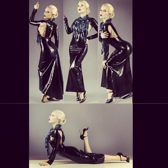 Just added the new #babyloveslatex Cut Out Gown to #reneemasoomian.com. With #latexmodel @thecourtneycrave. #fashionlatex #latexfashion #fetishfashion #darkfashion #latexdress #latex #pinup #fetishclothes http://www.reneemasoomian.com