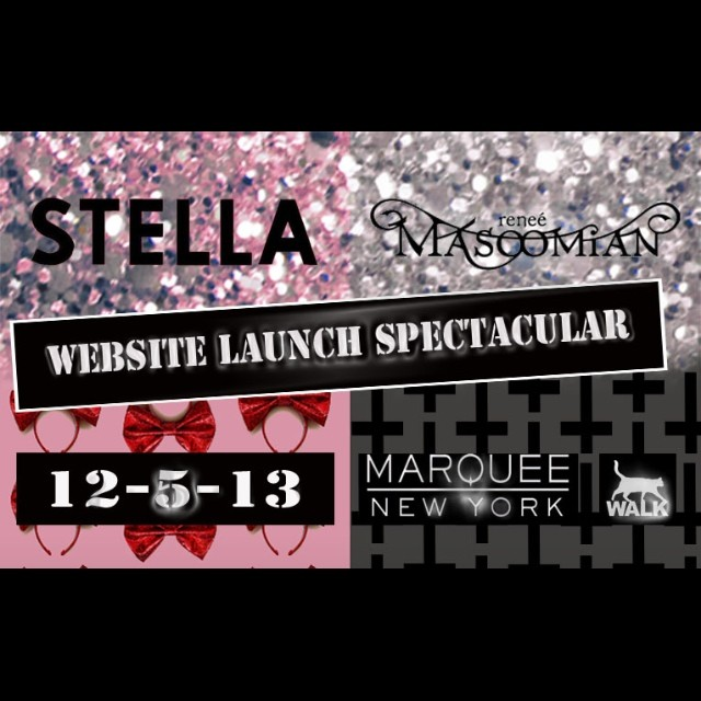Tonight is the launch party for the new #reneemasoomian.com and @itsstellarose's new website. Come on out to marquee night club and let's celebrate! #nycnightlife #nycfashion #launchparty