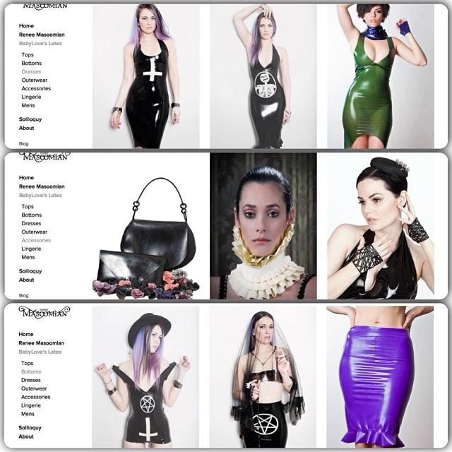 We keep adding more items to our new website everyday. #reneemasoomian #babyloveslatex #latexfashion #latex #fashionlatex #darkfashion    http://www.reneemasoomian.com