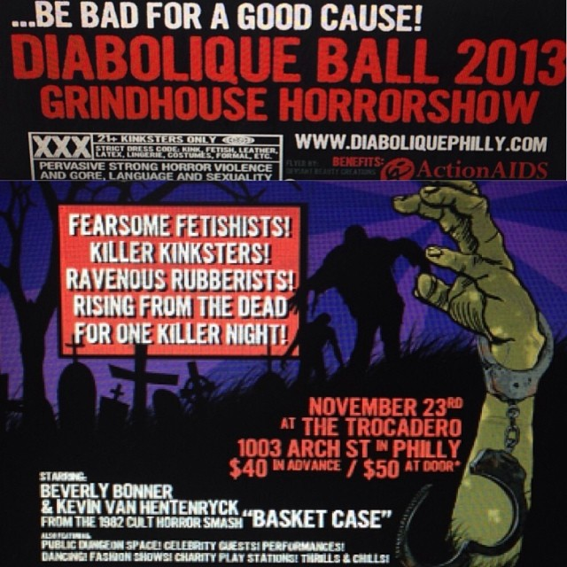 Philly, next Saturday come on out and be bad for a good cause at Diabolique Ball grind house themed.  Check out my #babyloveslatex fashion show along with @deliciousboutique and @passionalboutique. #fetishball #latexfashion #fetishshow #Diaboliqueball