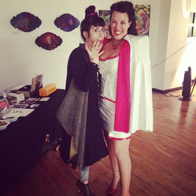 The lovely @cmayhem and myself for @drsketchyphilly at @archenemyarts in Philly. #drsketchys