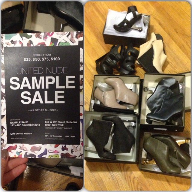 Had too much fun at the #unitednude #samplesale. #nycfashion