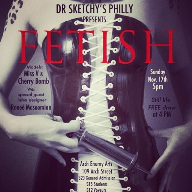 Philly don't forget I will be in town this Sunday for Dr. Sketchys, with lots of lovely #latex for you to draw. #latexmodel #latexfashion #drsketchys