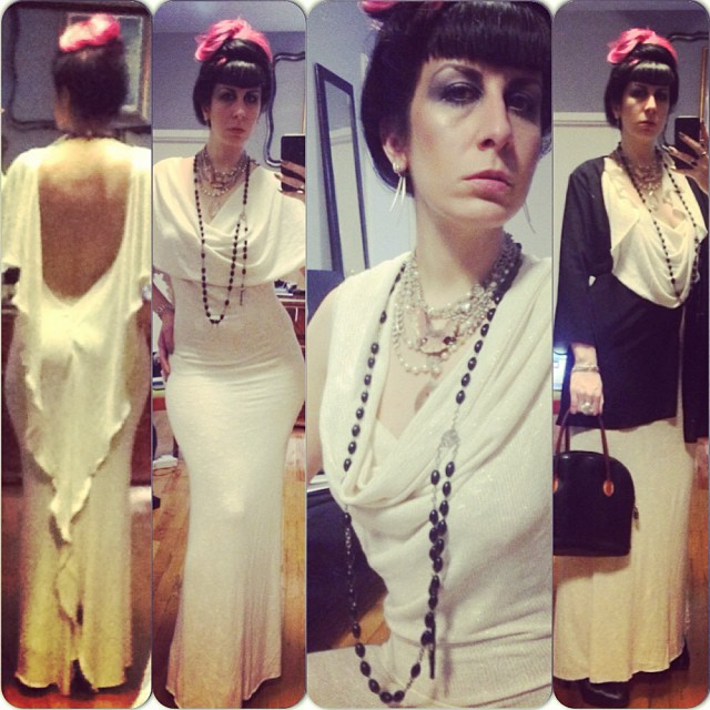 Off to see Dita tonight. In #reneemasoomian dress and @purevile necklace. #nightlife #nycfashion #nycnightlife