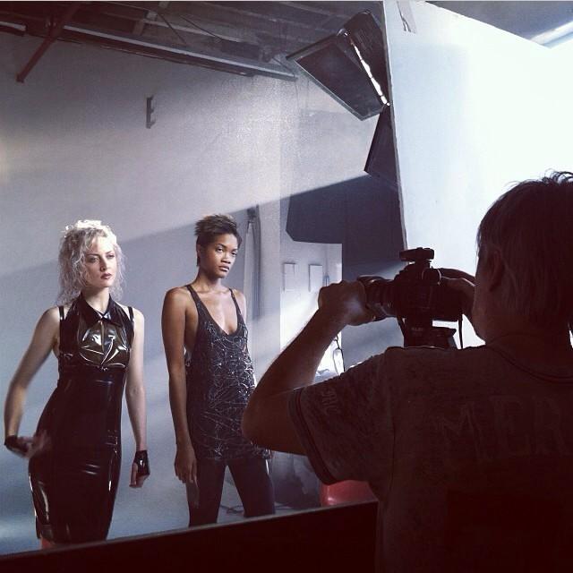 More from the #babyloveslatex shoot today with Anna and Ashley modeling and @jjhairandmakeup and @franceseugenia. #nycfashion #latexfashion #fashionlatex #latex #photoshoot