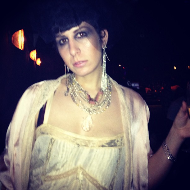 Some #1920s #silk with @purevile necklace  for tonight's outfit. #nycnightlife   #nycfashion #nightlife