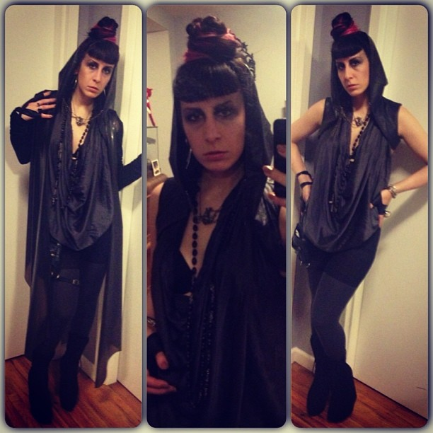 Headed out to #tritonfest tonight. #nycgoth #nycfashion #nycnightlife #gothic #goth #gothfashion
