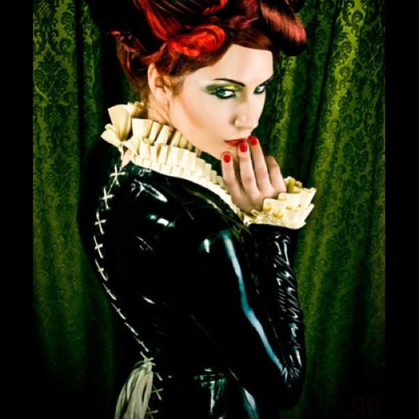 @sharontk in our #latex #corset #dress. #babyloveslatex #blackandwhite #latexdress #latexmodel #latexfashion #fashionlatex #rubber #nycfashion #fashionfetish #fetishfashion #tightlacing