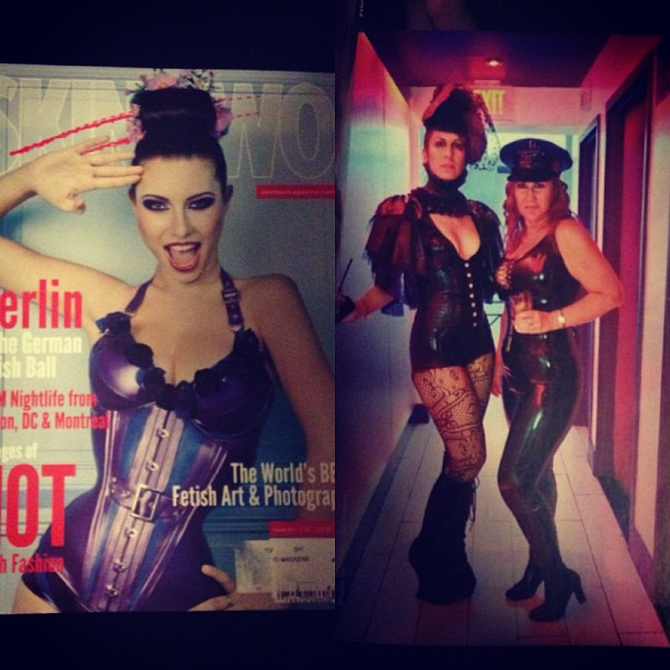 It's always fun finding yourself in a magazine. #skintwo #magazine #press #latex #babylovelatex #latexfashion #publicity #nightlife