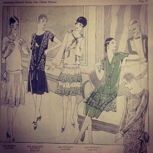 A little 1920's inspiration from around the studio. #1920s #fashion #flapper #inspiration #vintage #print