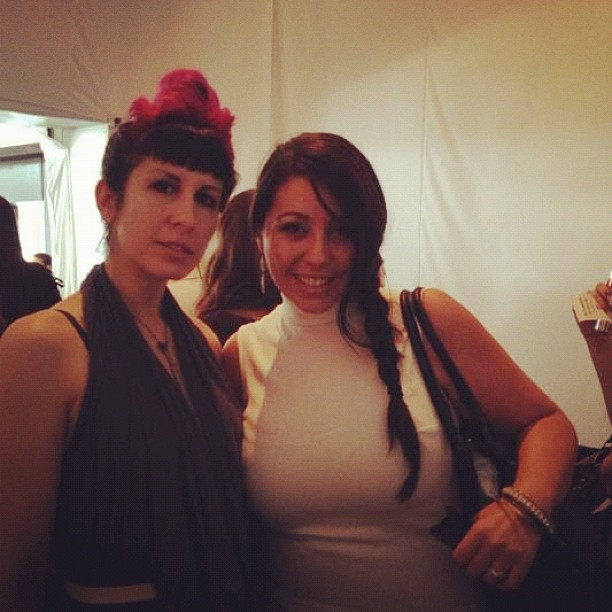Lauren and I at New York Fashion Week yesterday going to see some shows. (Taken with  Instagram )