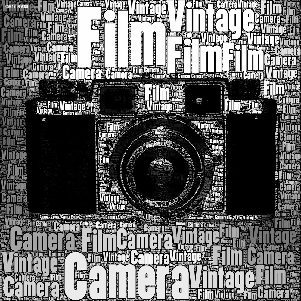 Vintage Film Camera Wordfoto