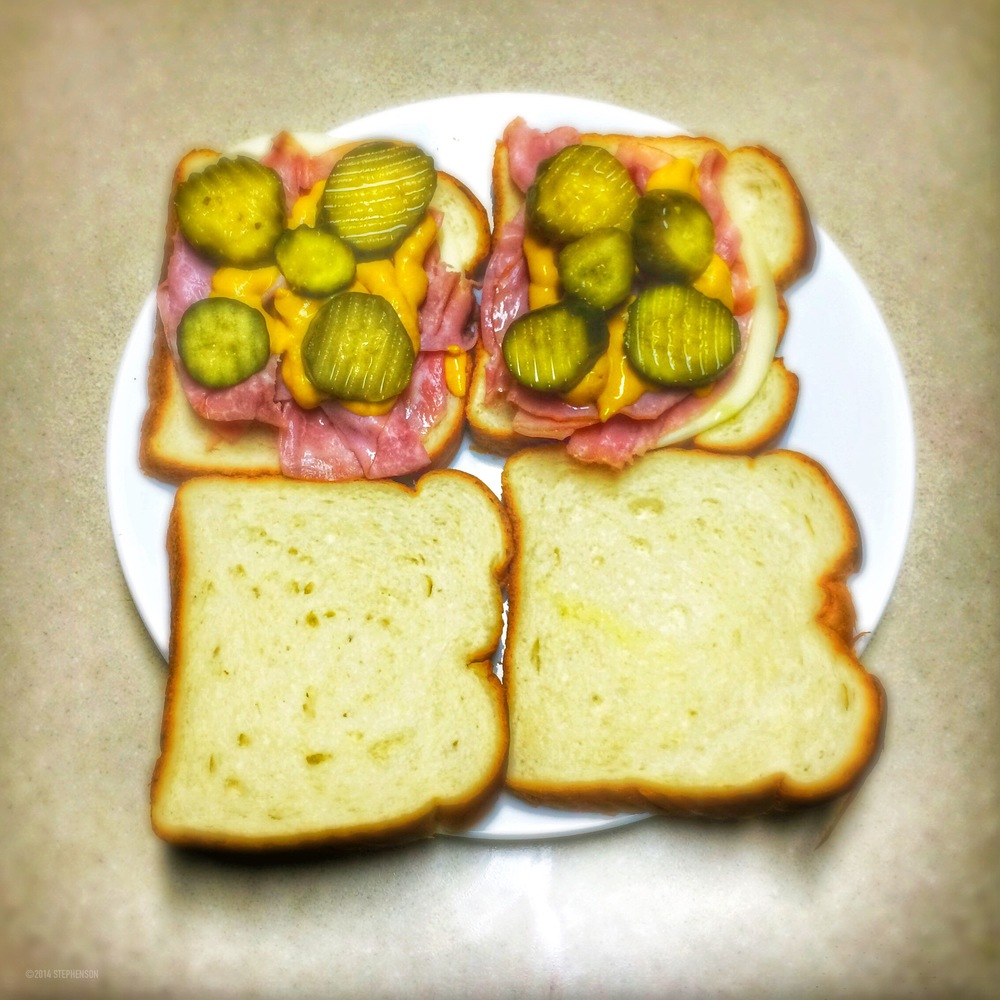 Ham Cheese Pickles Mustard