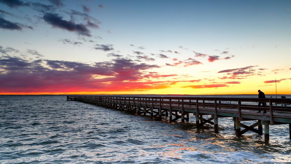Hilton Pier Sunset