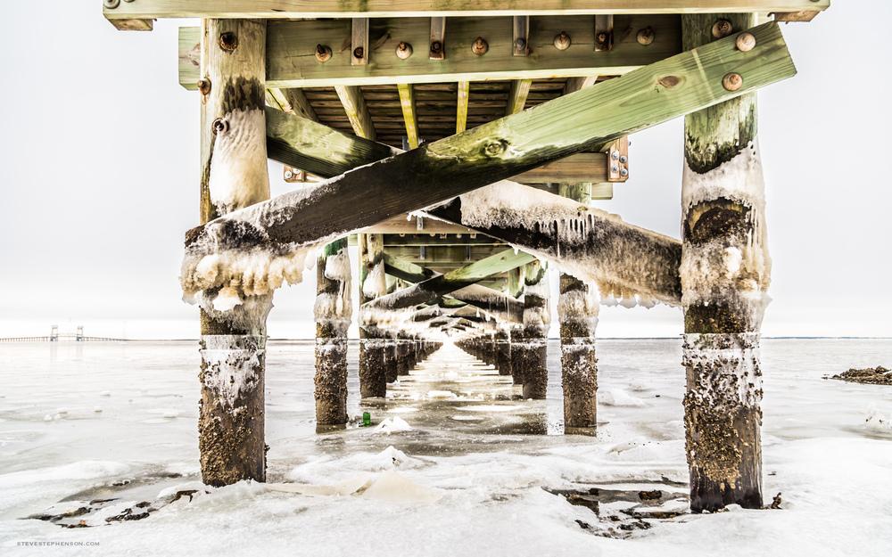 Frozen Hilton Pier