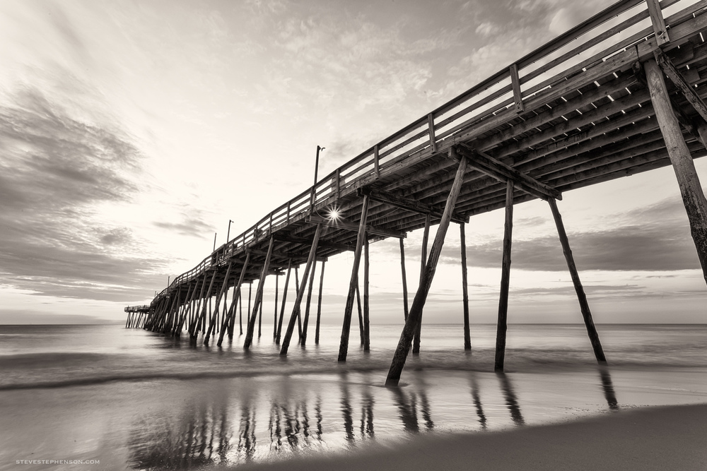 Avalon Pier Monochrome