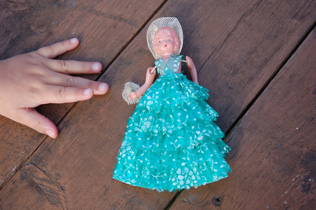 Little doll from the flea market.