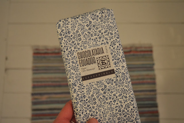 Beautiful packaging on this very good chocolate fromChocolataria Equadorin Lisbon.