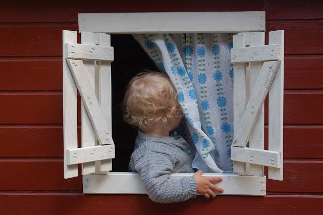 Molly in the play house today.
