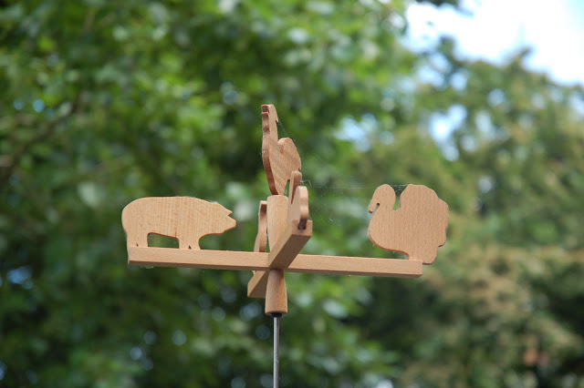 The girls had a nice little play house for their birthdays – and this beautiful weather vane for the roof top.