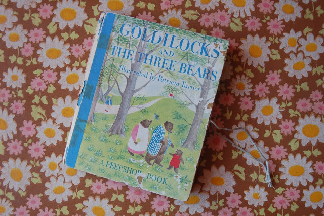 """Goldilocks and The Three Bears"", illustrated by Patricia Turner, A Peepshow Book."