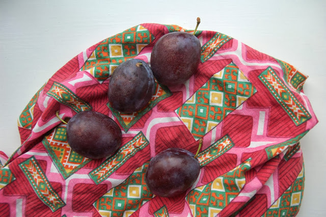 plums from our breakfast.