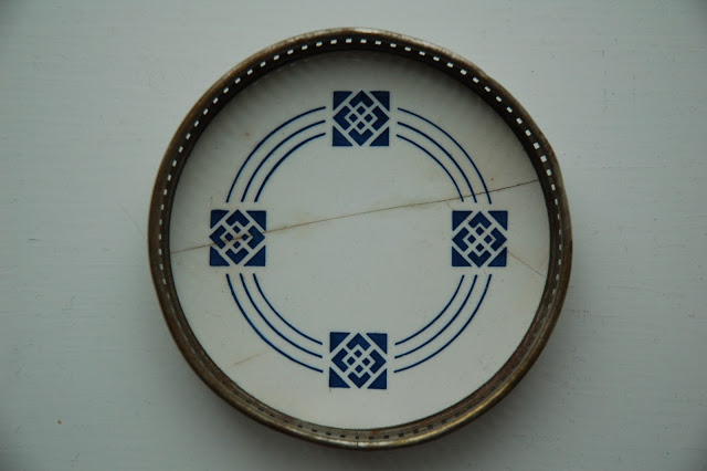 Little plate from the thrift store with a nice pattern.