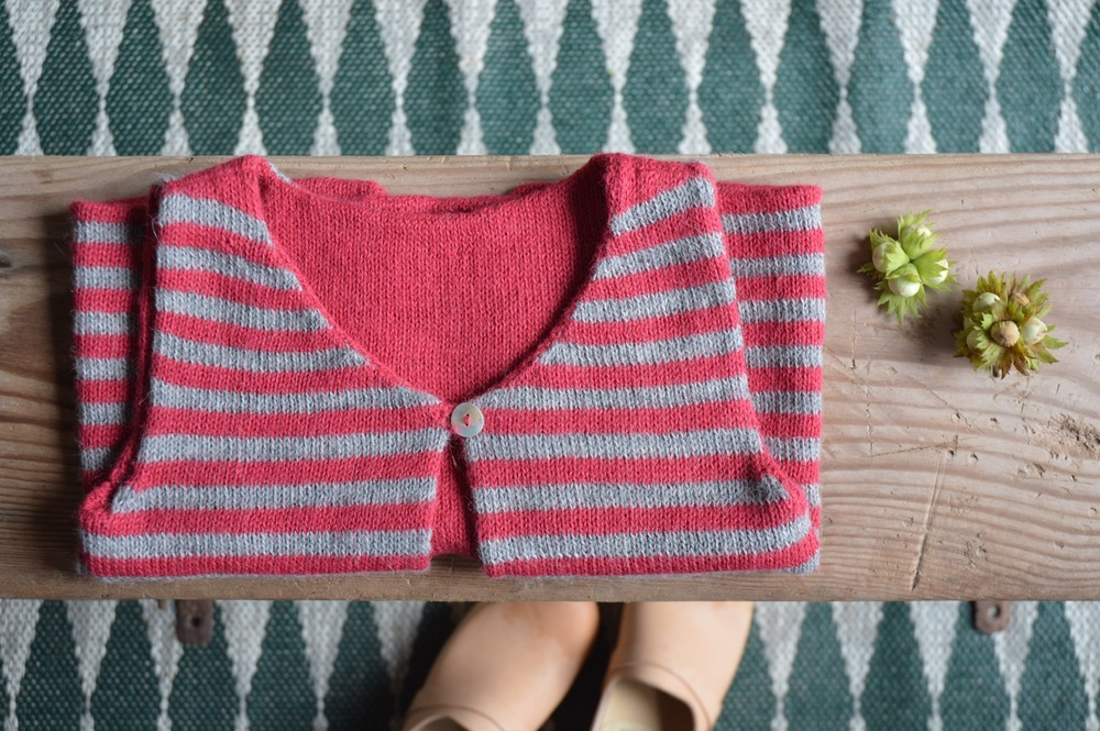 Nieva Knitwear Woodpecker Vest in Soft Rose Red