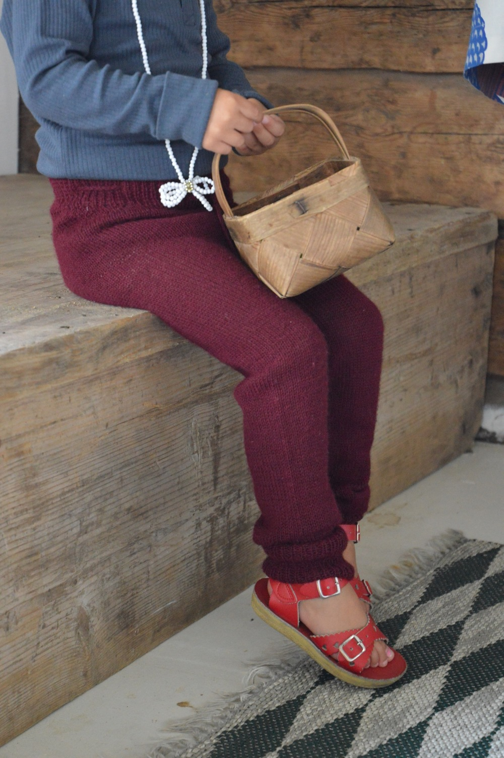 Midwinter Knit Pants in Burgundy