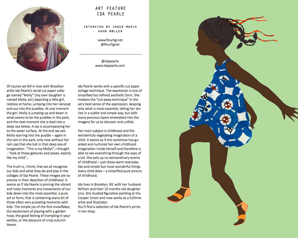 Spread from my interview with Ida Pearle in Enfants Terribles Magazine # 10