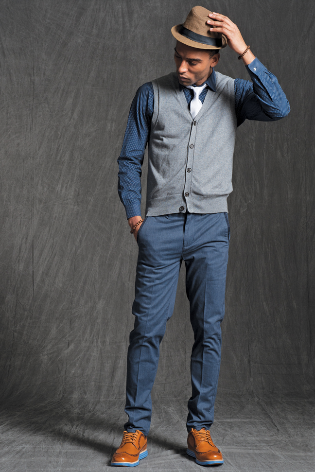 GRANT SKINNY STRETCH CHINO PANTS IN HEATHER CHARCOAL STRETCH TWILL