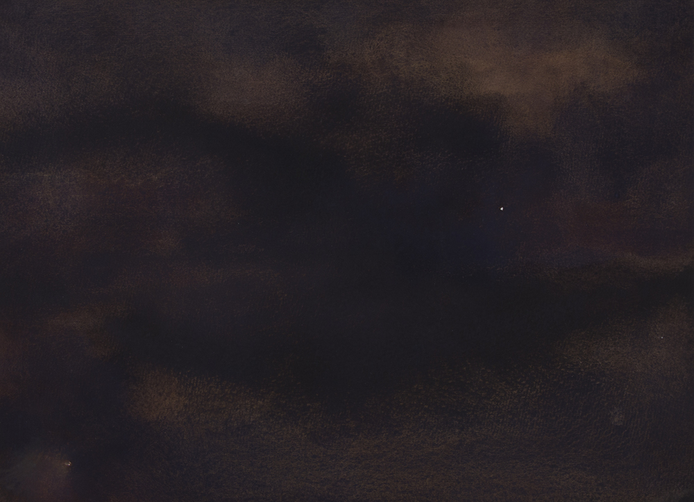 "Nightscape I   Watercolor on Paper  11"" x 14""  2013"