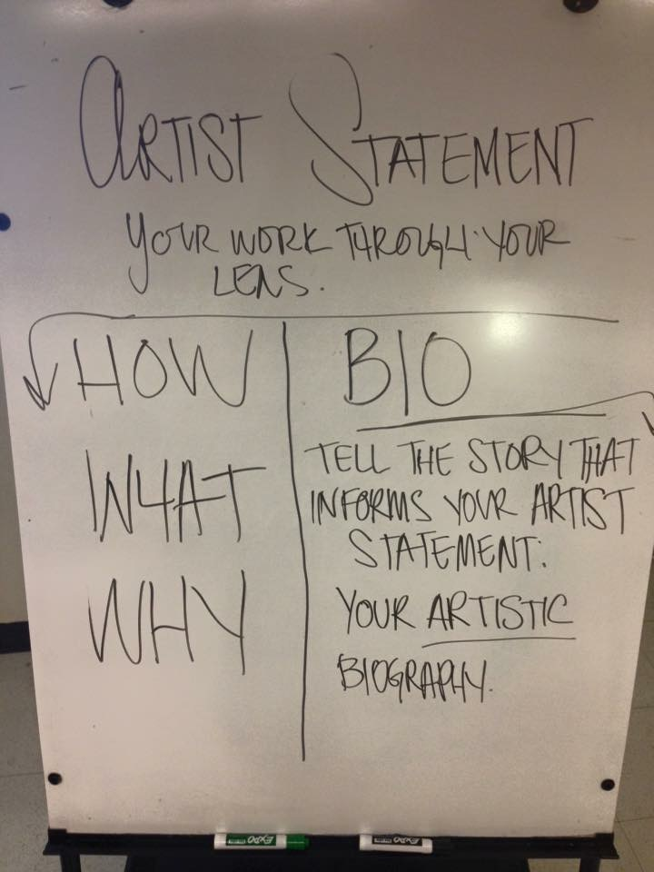 Artist Statement vs. Bio workshop