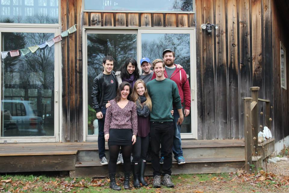 The Nancy Wake Project  team on a developmental retreat at the Dragon's Egg artists' residency (November 2015)