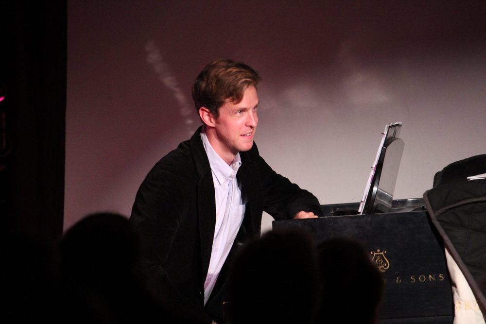 Keith behind the piano in  Elaine Stritch: Still Here , the sold-out NY Fringe show that he music directed, accompanied, and performed in (August 2015)