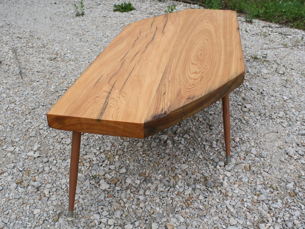 Yellow Pine Beam Coffee Table Tapered Legs.jpg