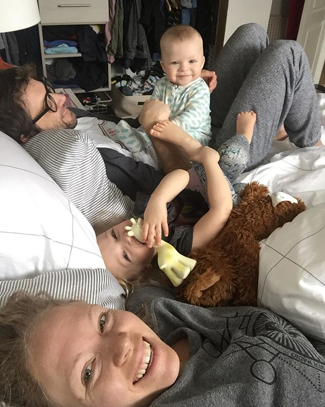Life is busy, these moments are needed. {Fam.Bed.Snuggles} #raresaturdaymorning