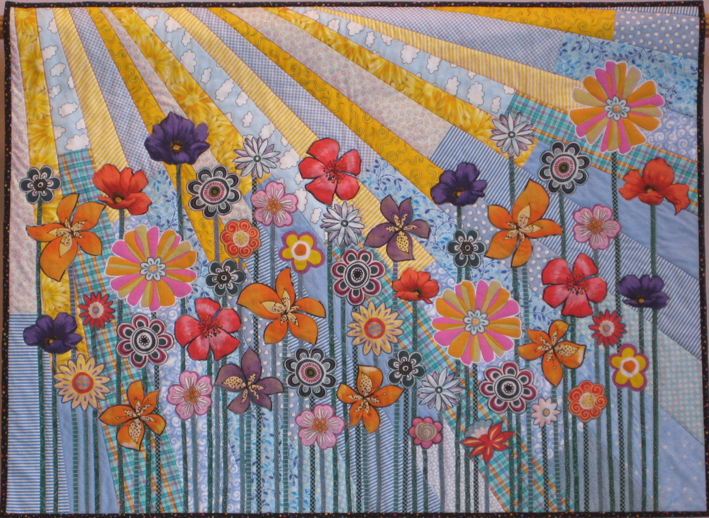 "Whimsical Garden, 29"" x 39"", 2010, collection of Marjorie Jennings"
