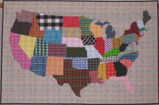 "Plaid to be an American, 27"" x 41"", 2010"