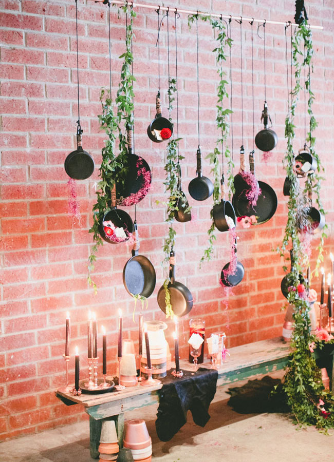 hanging pots by sitting in a tree