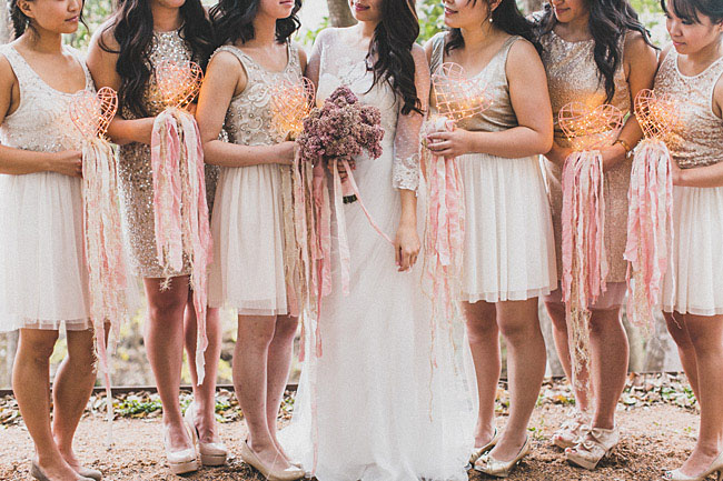 bridesmaid hearts by sitting in a tree