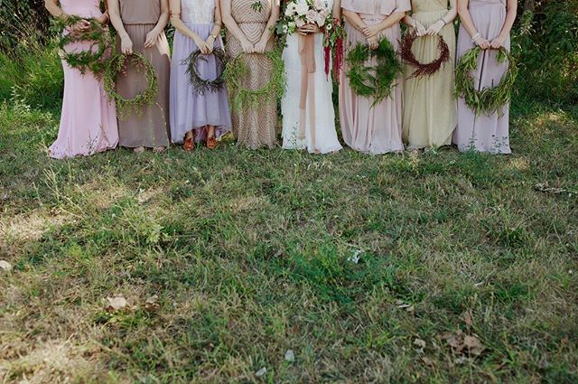 bridesmaid goals from our wedding earlier this weekend. and a big shout out to our rad vendors 📸 @amandavanvelsphotography @wovenflorals @yonder_house @butcherandtheblonde @garnishbartending // #sittinginatreewedding